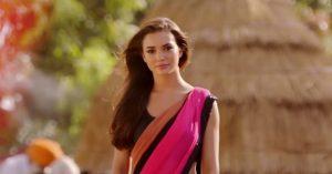amy-jackson-looking-beautiful-in-pink-saree-1