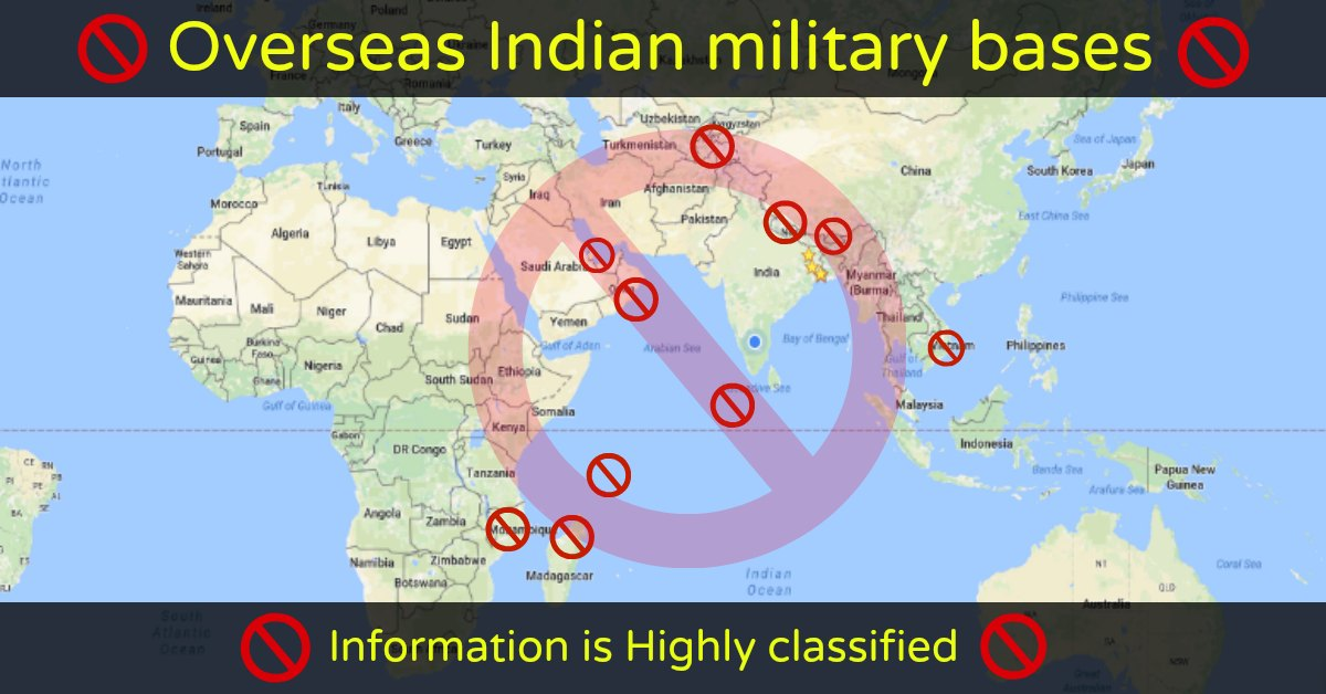 Overseas Indian Military Bases – List is Surprising