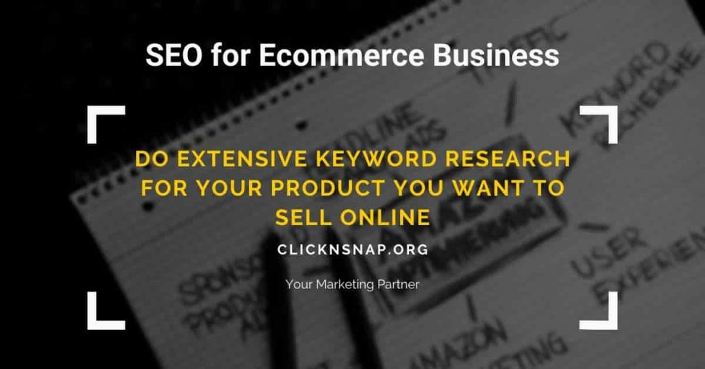 SEO FOR ECOMMERCE - 1